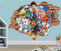 Paw Patrol Friends Mighty Pups Custom Wall Decals 3D Wall Stickers Art JO63