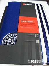 Griffin Varsity pasaporte Ipad Mini caso azul buen artículo, I Pad Mini Case