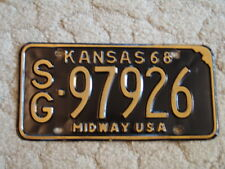 ANTIQUE 1968 KANSAS LICENSE TAG/PLATE - #97926   MIDWAY USA