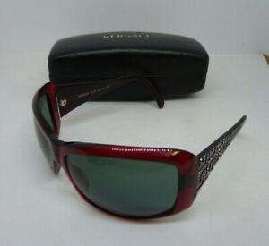 Versace Oversized Sunglasses 4069-B Bordeaux Red Rhinestones | Thames Hospice
