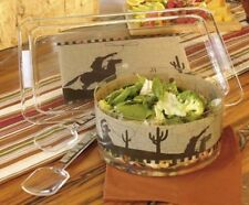 Western Moments M & F 4 piece Serving Set Last Round Up Acrylic 94896 $50.99