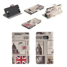 London Envelopes Card Slot Leather Flip Case Cover For iPhone 7 Plus
