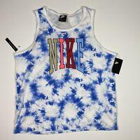 Nike Sportswear 'Just Do It' Mens Printed Tie Dye Tank Top Size XXL NWT