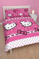 Hello Kitty Reversible Double Duvet & Pillow Set 200cm x 200cm Machine Washable