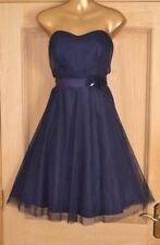 MONSOON NAVY BLUE TULLE EVENING SPECIAL OCCASION PARTY DRESS SIZE 16