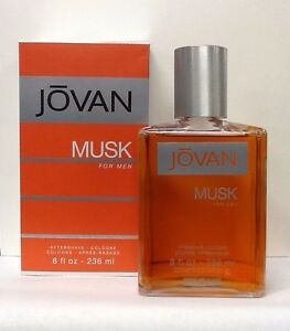 Jovan Musk By Coty Men 8.0 8 OZ 236 ML After Shave / Cologne Splash New In Box