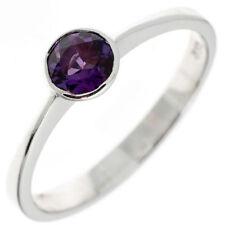 Ringe mit Amethyst echten Edelsteinen aus Sterlingsilber für Damen