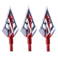 100Grain 4 Blade 3pcs Hunting Broadeheads Archery Shooting Arrow Tip Points Head