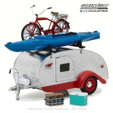 Greenlight 1:24 1947 Teardrop Trailer Rook Rack Bicycle Kayak Cooler and Basket