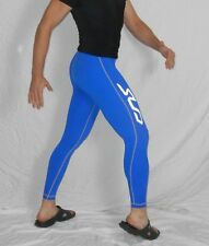 BLUE Compression TIGHTS SPANDEX Pants SPORT Silky Lycra Sz Small