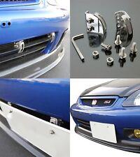 Front Bumper Adjustable License Plate Re-locator Bracket Holder Mount Support