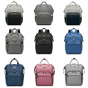 Multi-Function Maternity Backpack Baby Diaper Nappy Rucksack Mummy Changing Bag