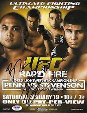 BJ Penn Fabricio Werdum Signed UFC 80 8.5x11 Poster PSA/DNA COA Photo Autograph
