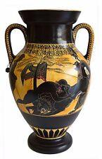 Heracles fighting Lion - Goddess Athena - Ancient Greek Amphora - Museum Replica