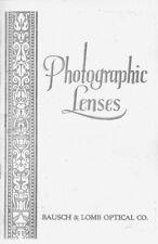 Bausch & Lomb Lens & Shutter Catalog 1928: Reprint