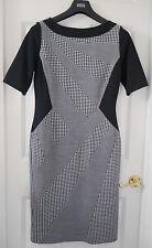 M&S Per Una Houndstooth Print Shift Dress, SZ 14, Black Mix, BNWT, Was £55