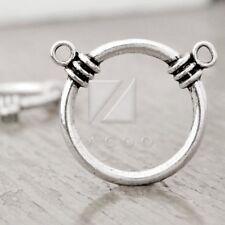10pcs Tibetan Silver Charm Pendant Link Connector DIY Jewelry Ring 35x35x6mm