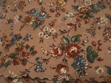 """QUILTING SQUARES (4""""), BROWN FLORAL DESIGN, LOT OF 24"""