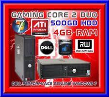 CHEAP DELL GAMING PC 4.0GHZ PROCESSOR 4GB RAM 500GB HARD DRIVE WIFI DVD ATI card