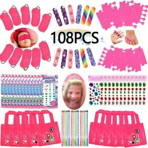 Spa Party Favors for Girls Multiple Spa Party Supplies- (12 Tote Bags, 12 MINI