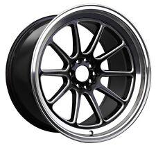 XXR 557 17x8 Rims 5x100/114.3 +35 Black/Machine Lip Wheels Fits Celica Neon Wrx