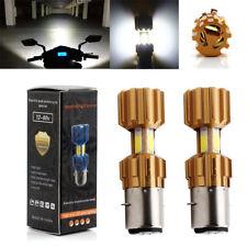 2Pcs BA20D 18W COB LED Light Bulbs Hi/Lo Car Motorcycle Headlight Fog Lamps