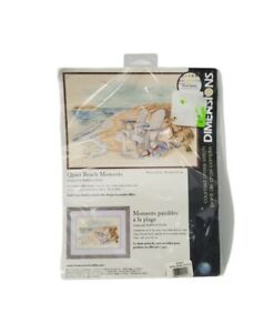Dimensions QUIET BEACH MOMENTS Adirondack Chairs Cross Stitch Kit Sealed 2009