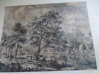 reproducTION  =paysage du pont sur la STOURde Constable encadrement ,collection