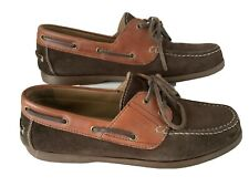 Geox Uk9.5/43.5 Mens Brown Suede Leather Moccasins Shoes