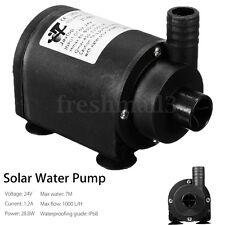 DC 24V Solar Hot Water Circulation Pump Brushless Submersible Motor 7m 1000 L/H