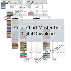 Download Stampin Up Tool Paper Cardstock Color Reference Chart Inventory