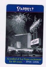 STARDUST Las Vegas Casino Room KEY Hotel / 48 Years of Excitement 1958 - 2006