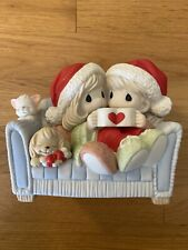 Precious Moments Figurine Couple On Couch 'I Love You With My Whole Heart' - Nib