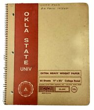Vtg OSU College Notebook Okla State Univ 1970s 1972 Aerial Photo Interpretation