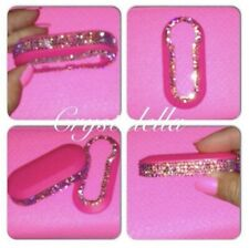 Crystal Fiat 500 Key Remote Cover in Pink