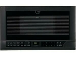 Black Sharp R1210T 1.5 cu. ft. Over the Counter Microwave 1100 watt