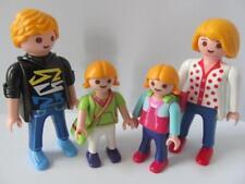 Playmobil DOLLSHOUSE blonde famille chiffres: MAMAN, PAPA et 2 filles avec sacs NOUVEAU