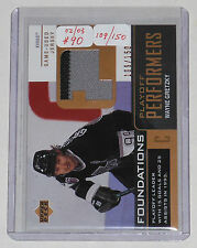 """2002/03 Gretzky UD Foundations """"Playoff Performers"""" Jersey Card #'d 109/150"""
