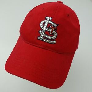St Louis Cardinals Jeweled Ball Cap Hat Adjustable Baseball Adult