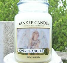 "Yankee Candle Retired ""SONG OF ANGELS""~ Large 22 oz ~ WHITE LABEL~ RARE ~ NEW"