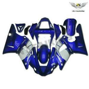 UK Blue White Injection Molding New Fairing Fit for Yamaha 2000 2001 YZF R1 o013