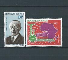 NIGER - 1967 YT 74 à 75 - POSTE AERIENNE - TIMBRES NEUFS* charnière