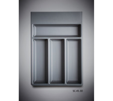 Compartment Kitchen Drawer Cutlery Insert Tray Grey / Divider  420mm x 300mm