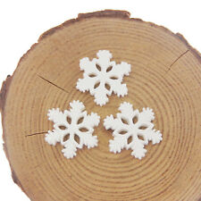 20pcs White Tone Snowflake Resin DIY Jewelry Making Flatback Accessories Crafts