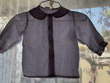 Vintage 70s 80s Baby Girl Purple Peter Pan Collar Floral Shirt 3 Toddler Mod 3T