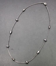 "Silpada Modernist Liquid Sterling Silver Nugget Necklace 16"" N1291"