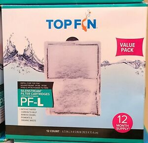 "TOP FIN SILENSTREAM PF-L FILTER Cartridge ~ 12 Count/box ~ 6.5"" in x 4.5"" in"