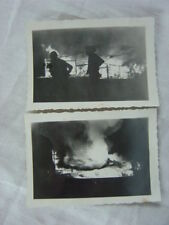 Unusual Vintage Photos Silhouettes on Fire Disaster 810