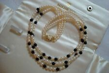"Authentic  Vinage  ""Mikimoto"" Akoya Pearl and Onyx Necklace"