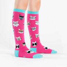 Sock It To Me Junior Knee High Socks - Smarty Cats - Age: 7-10